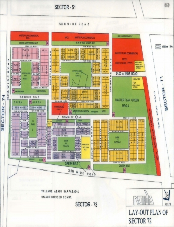 Residential Plot for Sale in Sector 72 Noida - Location Map