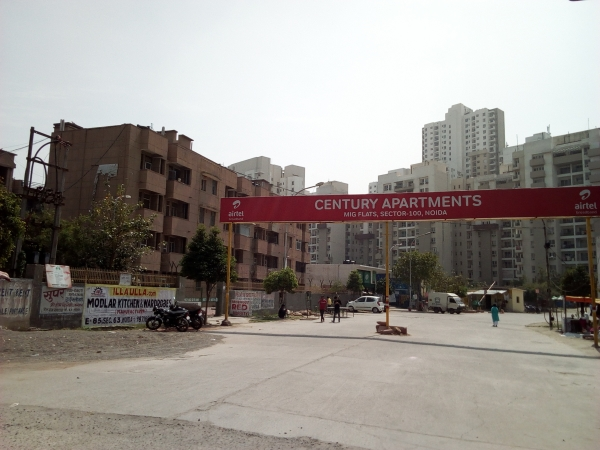 2 BHK Apartment for Rent in Century Apartments - Exterior View