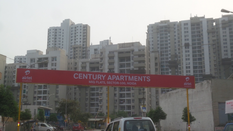 3 BHK Apartment for Rent in Century Apartments - Exterior View