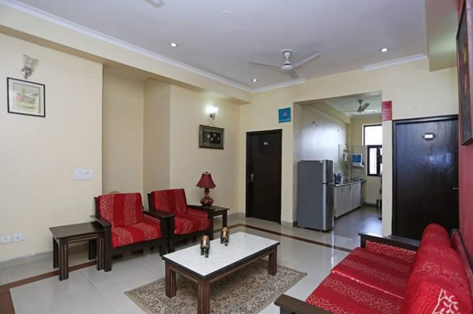 3 BHK Floor for Rent in Ansal Sushant Lok 1 - Living Room