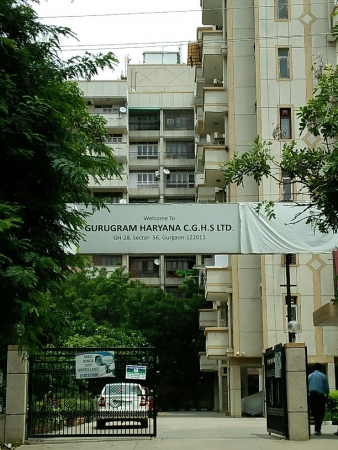 3 BHK Apartment for Rent in Gurugram Cooperative Group Housing Socie... - Exterior View