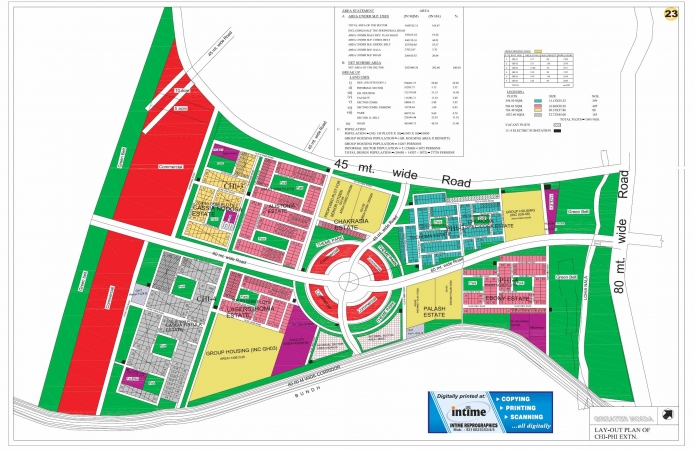Residential Plot for Sale in Chi - Phi Greater Noida - Location Map