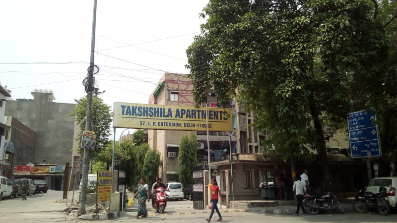 2 BHK Apartment for Rent in Taksheela Apartment - Exterior View