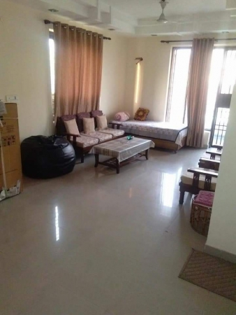 3 BHK Floor for Rent in DLF Pink Town House - Living Room