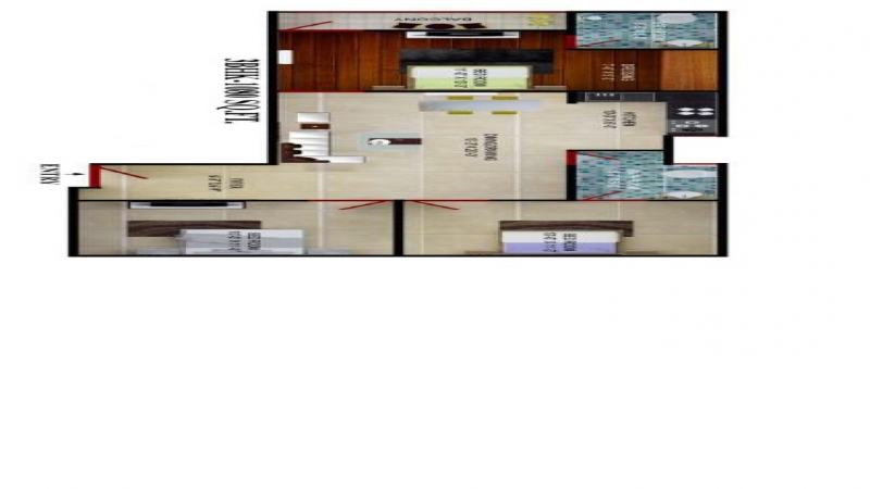 3 BHK Apartment for Sale in Advetaya Smart Homes - Living Room