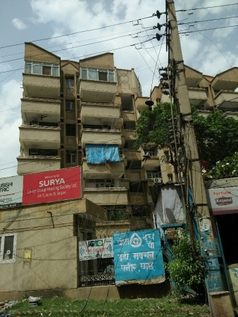 3 BHK Apartment for Rent in Surya Apartments - Exterior View