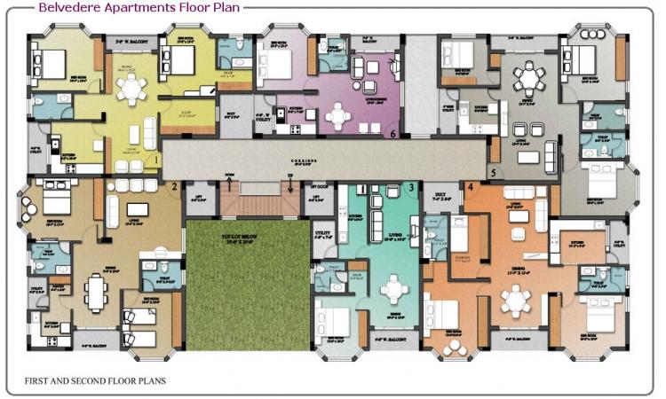 2 BHK Apartment for Sale in RPS Savana - Floor Plan